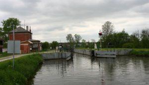 Baťův kanál - plavební komora Petrov